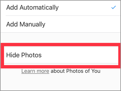 Instagram Profile Settings Photos of You Hide Photos