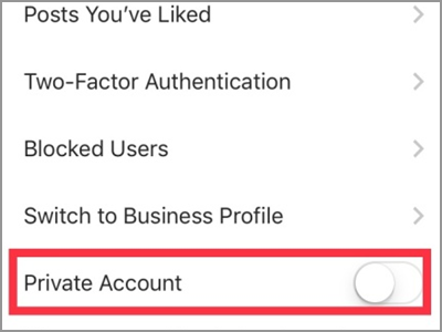 Instagram Profile Settings Private Account
