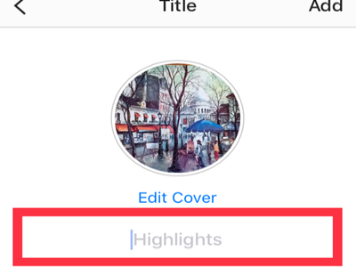 Instragram Profile Archive List Select Highlights NEXT Highlights Title