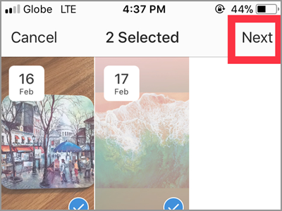 Instragram Profile Archive List Select Highlights NEXT