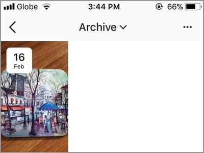 Instragram Profile Archive List