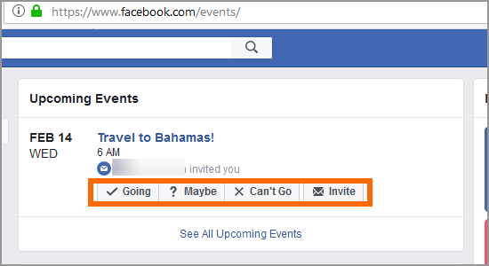 PC Facebook Home Events Respond