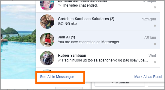 PC Facebook Messenger See All in Messenger