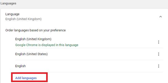 change google chrome language