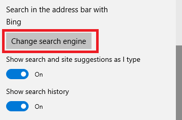 how to change microsoft edge search engine