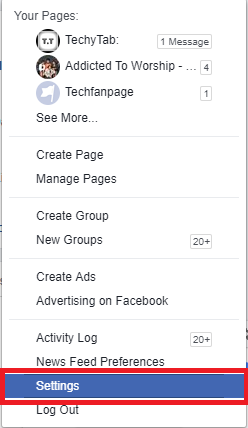 change facebook username