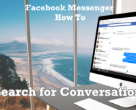 Search for Facebook Messenger Conversations Using Computer