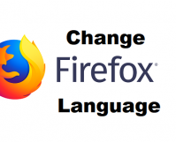 change firefox language