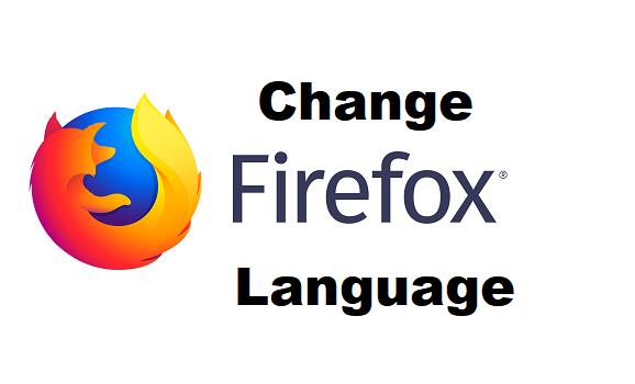 change firefox language