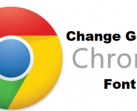 change google chrome font