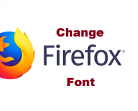 how to change firefox font
