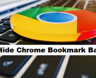 hide google chrome bookmark bar