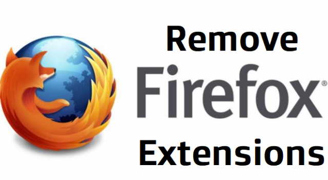 remove firefox extensions