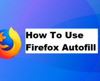 use firefox autofil