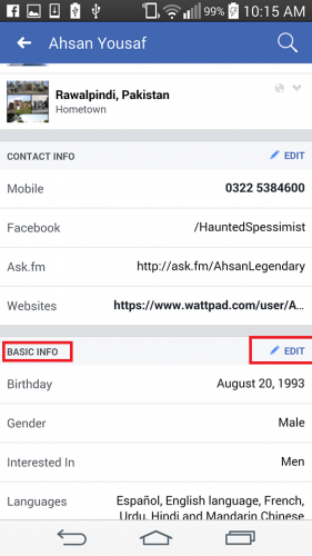 How can i change my birth date on facebook
