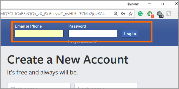 Facebook Web Login