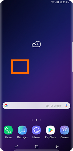 Galaxy S9 Empty Space on Home Screen