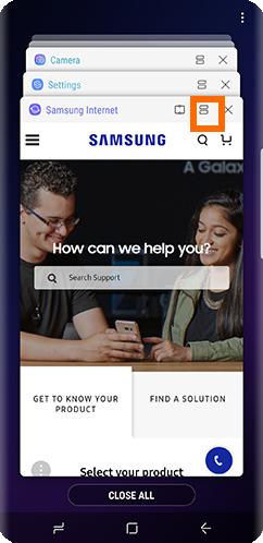 Galaxy S9 Recent Apps Button Multi Window button