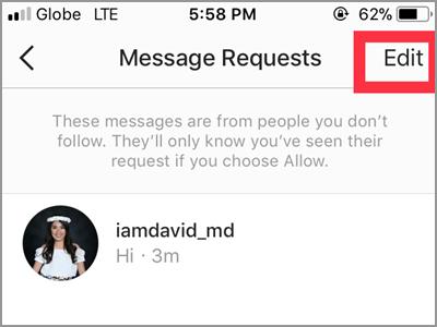 Instagram Edit Message Requests