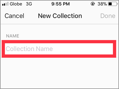 Instagram Profile Create Collection Name