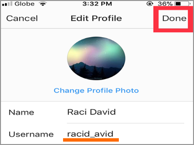 Instagram Profile Edit Profile Change Username