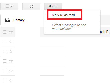 Mark All Emails As Read On Gmail