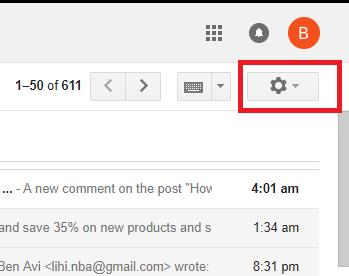 change gmail font