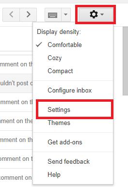 Change Gmail Display Language