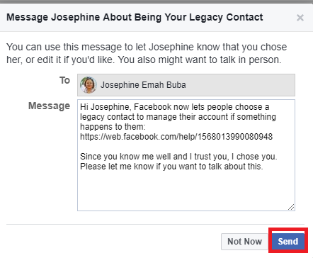 Add Legacy Contact On Facebook