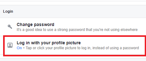 Login With Profile Picture On Facebook