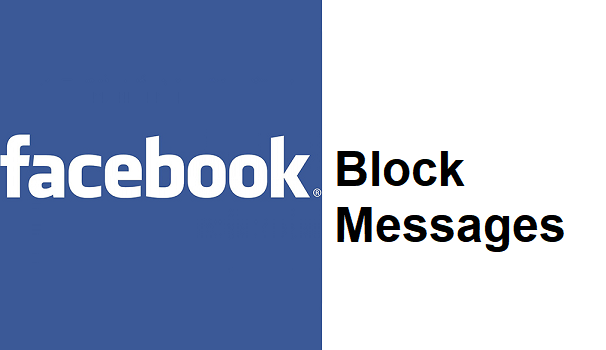 block messages on Facebook