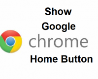 Show Google Chrome Home Button