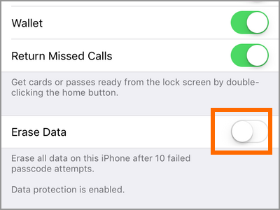 iPhone Erase Data