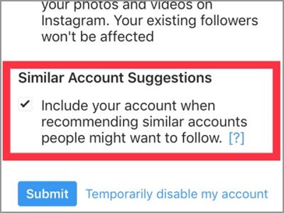 iPhone Home Safari Instagram Edit Profile Similar Account Suggestions