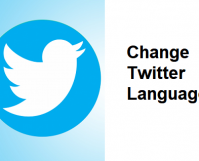 Change Twitter Language