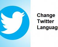 Change Twitter Language