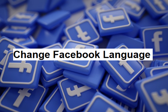 how to change language on facebook page