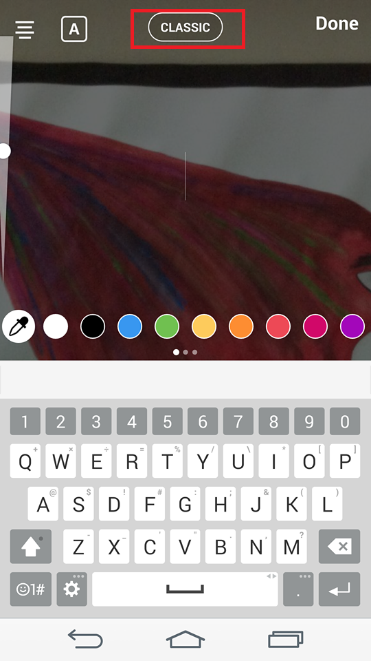 how to change the font on instagram story