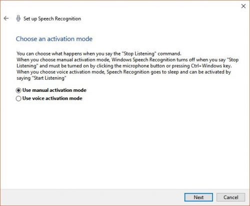 How to use Speech Recognition on Windows to type