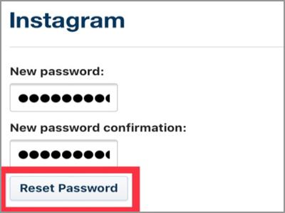 how to change insta password