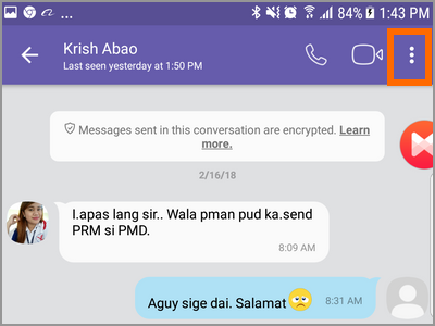 Viber Message Other Options