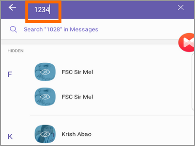 Viber Search 4-digit PIN