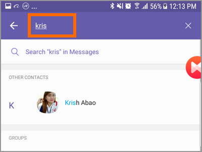 Viber Search Button Search Contact