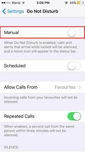 how to stop interrupting on phone