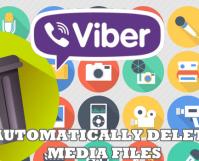 Delete Viber Media files
