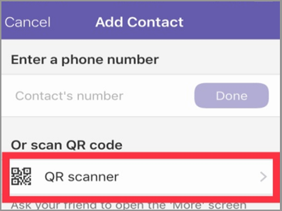 Viber Add Contacts QR Scanner