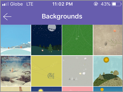 Viber Settings Change Background Choose