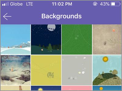 Viber Settings Change Background Choose