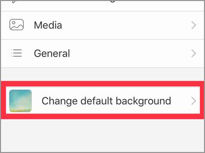 Viber Settings Change Default Background