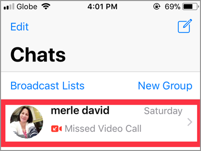 WhatsApp Chats Choose Chat